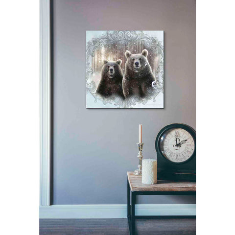 Image of 'Enchanted Winter Bears' by Bluebird Barn, Canvas Wall Art,18 x 18