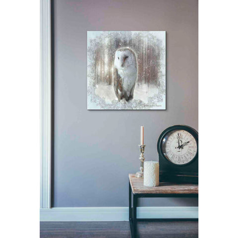 Image of 'Enchanted Winter Owl' by Bluebird Barn, Canvas Wall Art,18 x 18