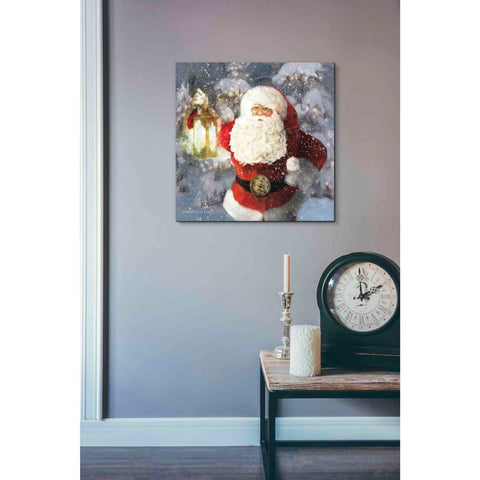Image of 'Light the Way Santa' by Bluebird Barn, Canvas Wall Art,18 x 18
