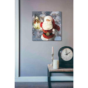 'Light the Way Santa' by Bluebird Barn, Canvas Wall Art,18 x 18