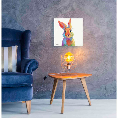 Image of 'Cheery Bunny' by Britt Hallowell, Giclee Canvas Wall Art