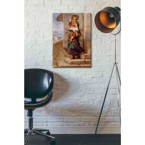 'A Roman Water Carrier' by Carl Haag, Canvas Wall Art,18 x 26
