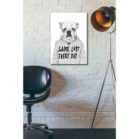 Image of 'Same Shit Everyday' by Balazs Solti, Giclee Canvas Wall Art