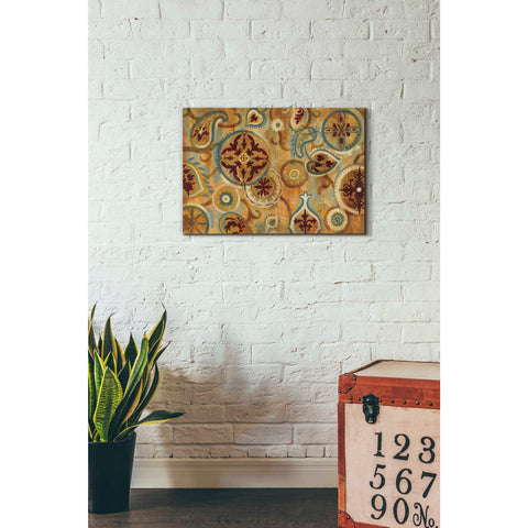 """Burnt Paisley and Mandalas"" by Silvia Vassileva, Giclee Canvas Wall Art"