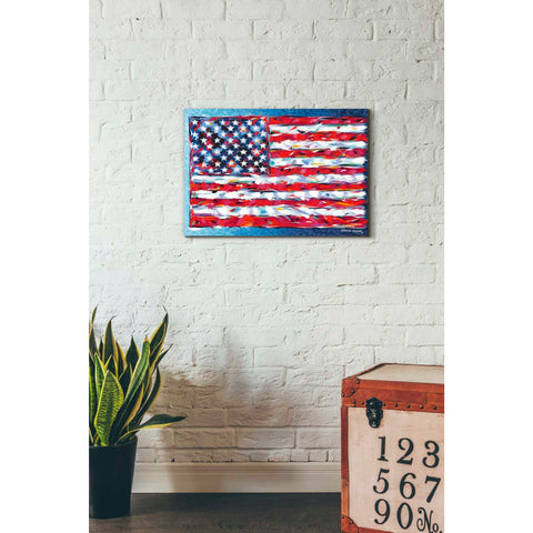 Image of 'Vibrant Stars & Stripes' by Carolee Vitaletti, Giclee Canvas Wall Art