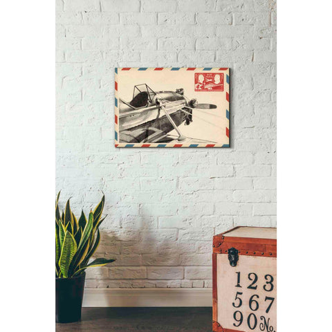 'Small Vintage Airmail I' by Ethan Harper Giclee Canvas Wall Art