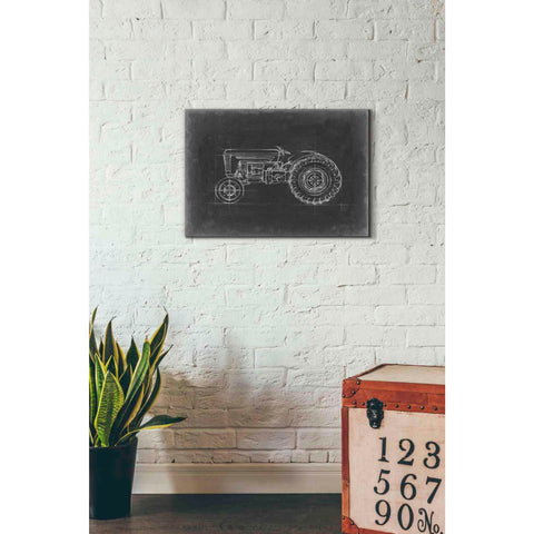 'Tractor Blueprint I' by Ethan Harper Giclee Canvas Wall Art