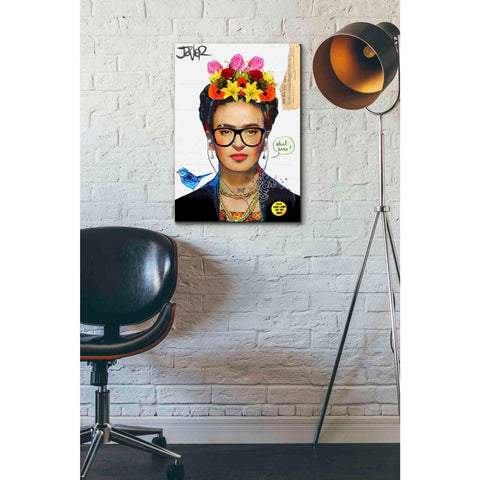 Image of 'Hipsta Frida' by Loui Jover, Giclee Canvas Wall Art