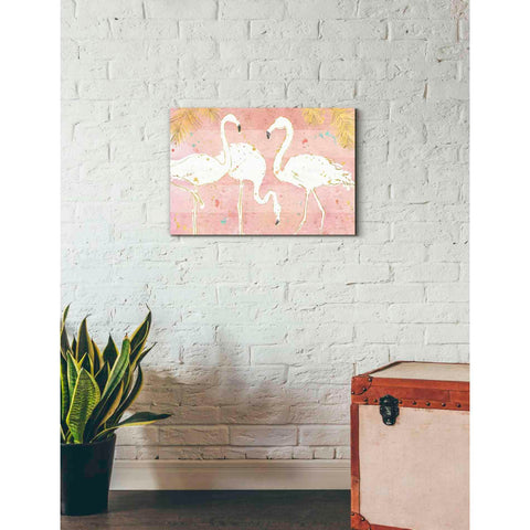 Image of 'Flamingo Fever IV' by Anne Tavoletti, Giclee Canvas Wall Art