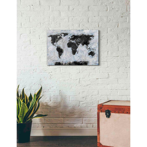 Image of 'Old World Map' by Britt Hallowell, Canvas Wall Art,26 x 18