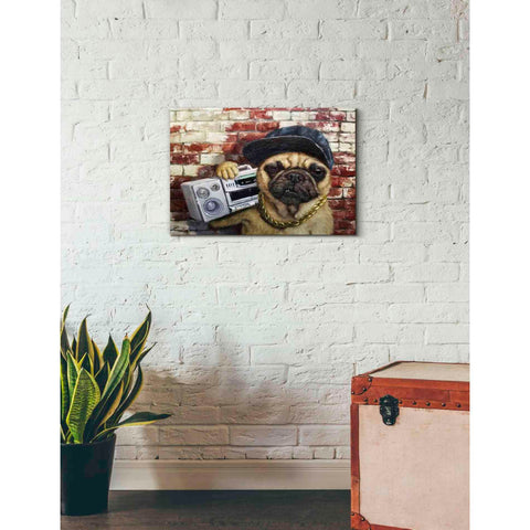 'Who Let The Dogs Out' by Lucia Heffernan, Canvas Wall Art,26 x 18