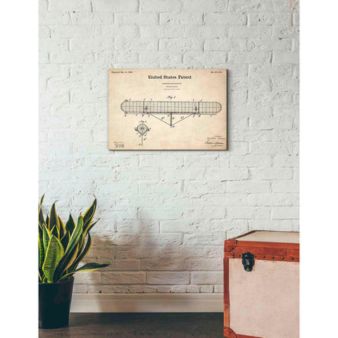 'Navigable Balloon Blueprint Patent Parchment' Giclee Canvas Wall Art