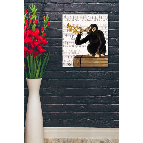 'Monkey Playing Trumpet' by Fab Funky, Giclee Canvas Wall Art