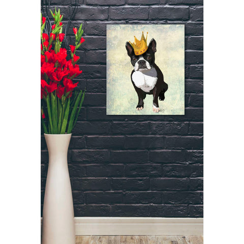 'Boston Terrier and Crown' by Fab Funky, Canvas Wall Art,20 x 24