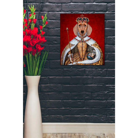 'Dachshund Queen' by Fab Funky, Giclee Canvas Wall Art