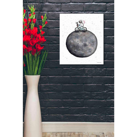 Image of 'Bike on Moon' by Rachel Nieman, Canvas Wall Art,20 x 24