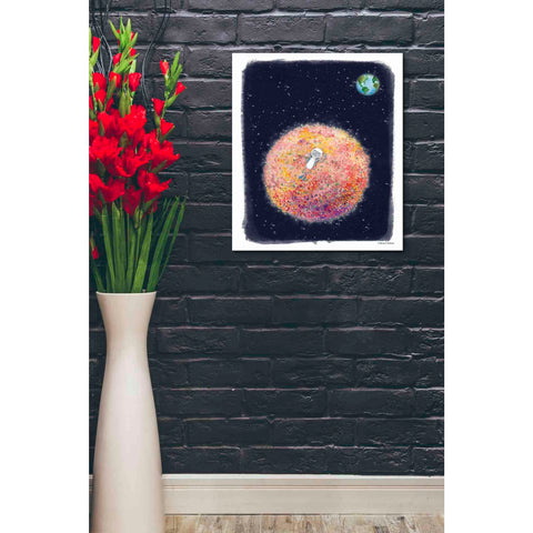 'Chillin on Moon' by Rachel Nieman, Giclee Canvas Wall Art