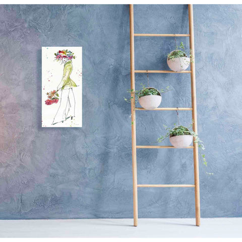 Image of 'Floral Figures VII' by Anne Tavoletti, Canvas Wall Art,20 x 40