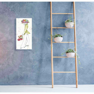 'Floral Figures VII' by Anne Tavoletti, Canvas Wall Art,20 x 40