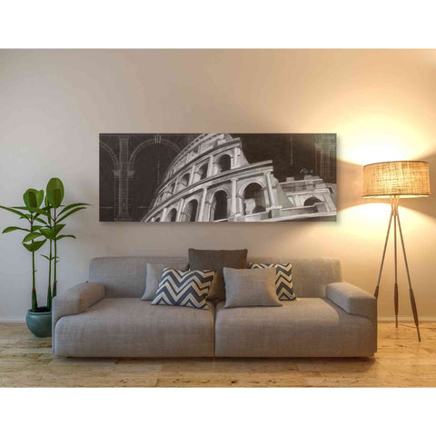 'Iconic Architecture I' by Ethan Harper Giclee Canvas Wall Art