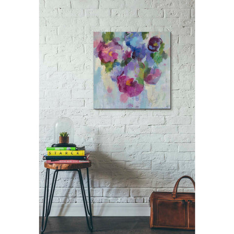 """Pink and Blue III"" by Silvia Vassileva, Giclee Canvas Wall Art"