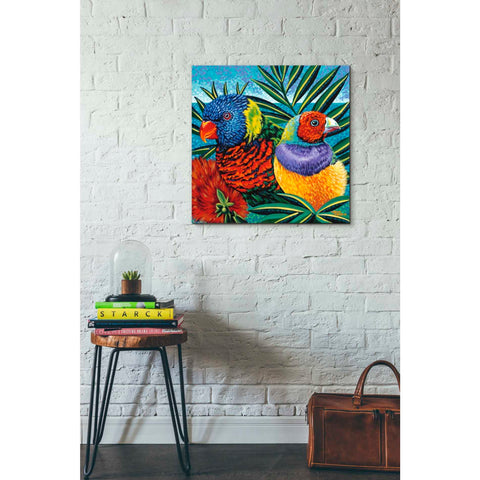 Image of 'Birds in Paradise II' by Carolee Vitaletti, Giclee Canvas Wall Art