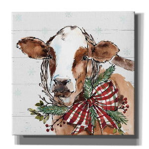 'Holiday on the Farm VIII on Gray' by Anne Tavoletti, Giclee Canvas Wall Art