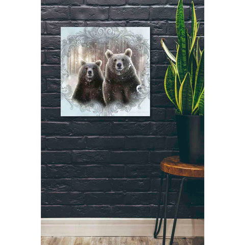 Image of 'Enchanted Winter Bears' by Bluebird Barn, Canvas Wall Art,26 x 26
