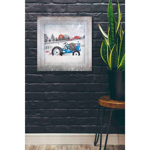 Image of 'Christmas Tractor' by Bluebird Barn, Canvas Wall Art,26 x 26