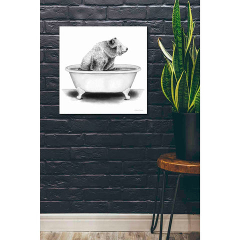 'Bear in Tub' by Rachel Nieman, Giclee Canvas Wall Art