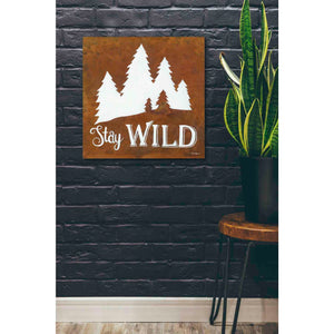 'Stay Wild' by Britt Hallowell, Canvas Wall Art,26 x 26