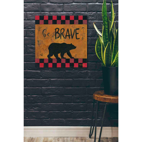 Image of 'Be Brave' by Britt Hallowell, Canvas Wall Art,26 x 26