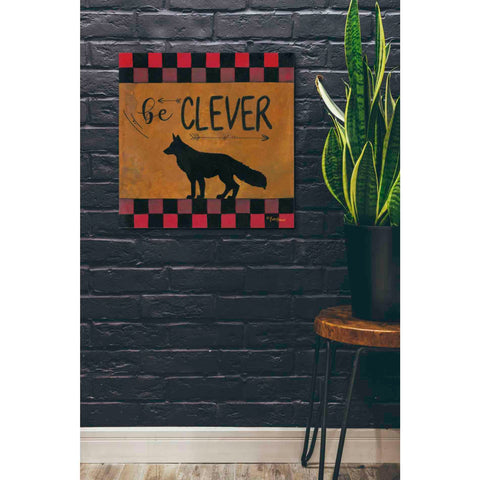 'Be Clever' by Britt Hallowell, Canvas Wall Art,26 x 26