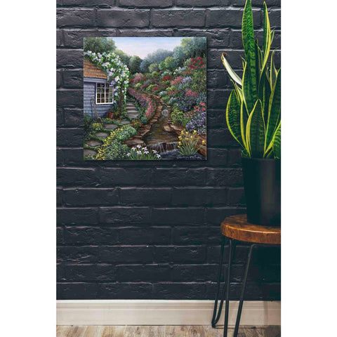 Image of 'Cottage with Rock Garden' by Barbara Felisky, Giclee Canvas Wall Art