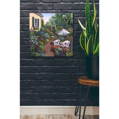 Image of 'Relax in the Garden' by Barbara Felisky, Giclee Canvas Wall Art
