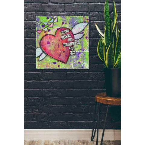 """Love Gives Us Permission"" by Denise Braun, Giclee Canvas Wall Art"