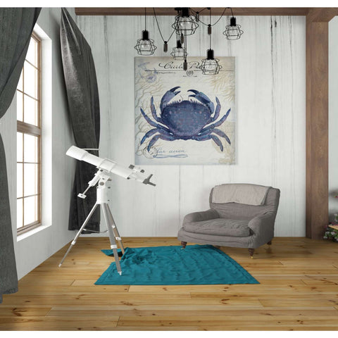 Image of 'Seaside Postcard Cream e,' by Fab Funky, Canvas Wall Art,26 x 30