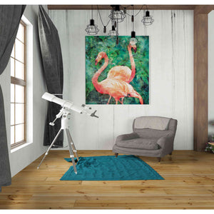 'Flamingos' by Bluebird Barn, Canvas Wall Art,26 x 30