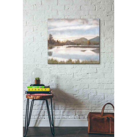 Image of 'Lakeview Sunset Landscape' by Bluebird Barn, Canvas Wall Art,30 x 26