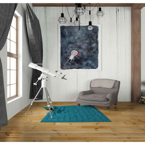 'Swim in Space' by Rachel Nieman, Giclee Canvas Wall Art