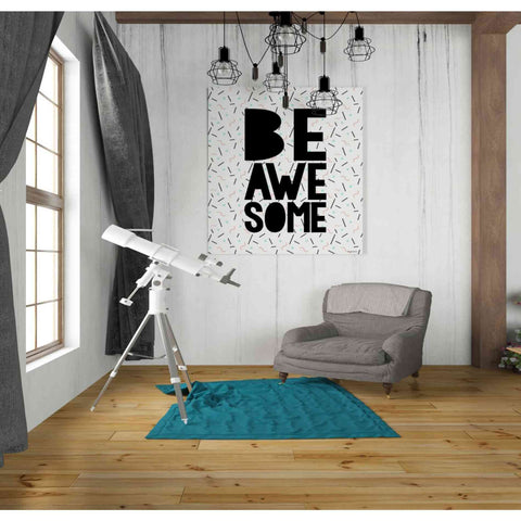 'Be Awesome' by Kyra Brown, Canvas Wall Art,26 x 30