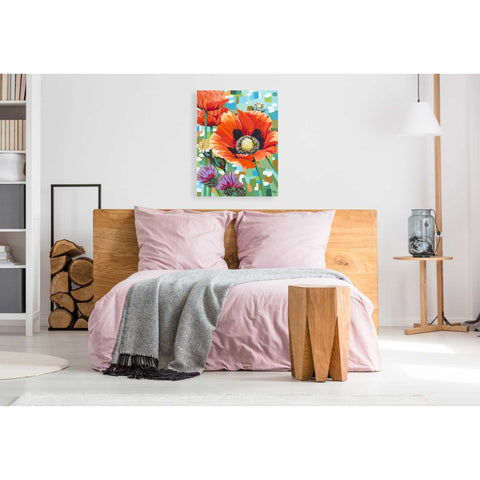 Image of 'Vivid Poppies II' by Carolee Vitaletti, Giclee Canvas Wall Art