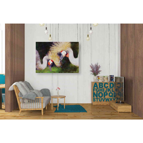 Image of 'Two Cranes' by Bluebird Barn, Canvas Wall Art,34 x 26