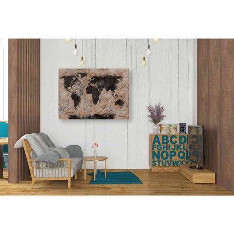 Image of 'Old World Map' by Britt Hallowell, Canvas Wall Art,34 x 26