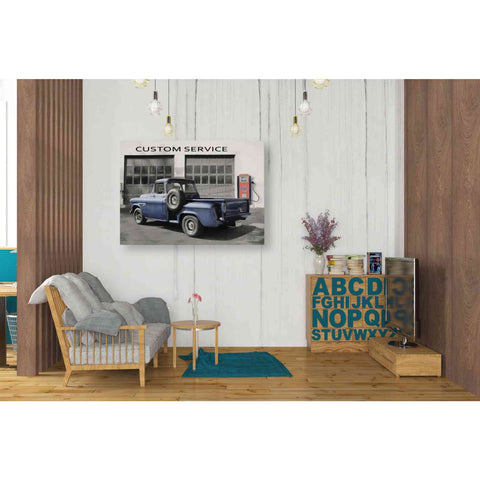 'Gulf Service Station' by Lori Deiter, Giclee Canvas Wall Art