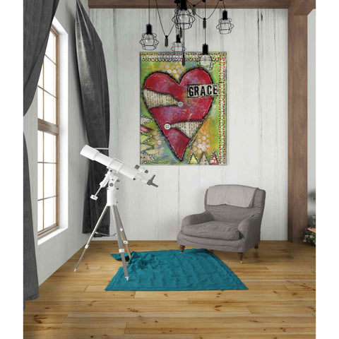 "Image of ""Grace Heart"" by Denise Braun, Giclee Canvas Wall Art"