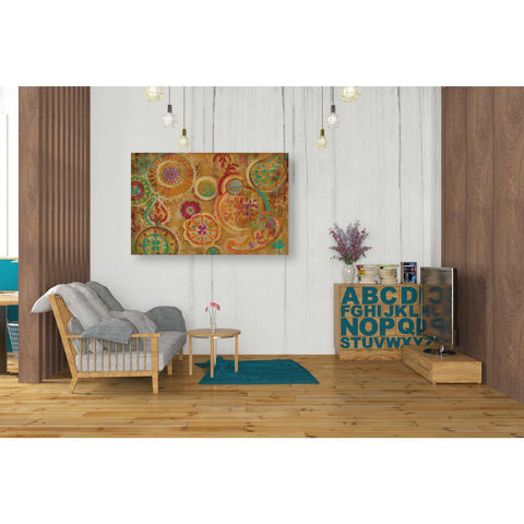 """Contemporary Paisley"" by Silvia Vassileva, Giclee Canvas Wall Art"
