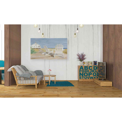 'Beach Chairs 1' by Stellar Design Studio, Giclee Canvas Wall Art
