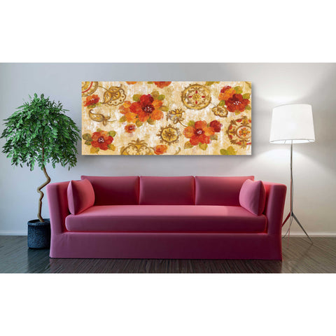 """Hibiscus and Mandala"" by Silvia Vassileva, Giclee Canvas Wall Art"