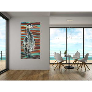 'Watchful Heron I' by Carolee Vitaletti, Giclee Canvas Wall Art